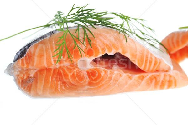 salmon with green  dill  Stock photo © taden