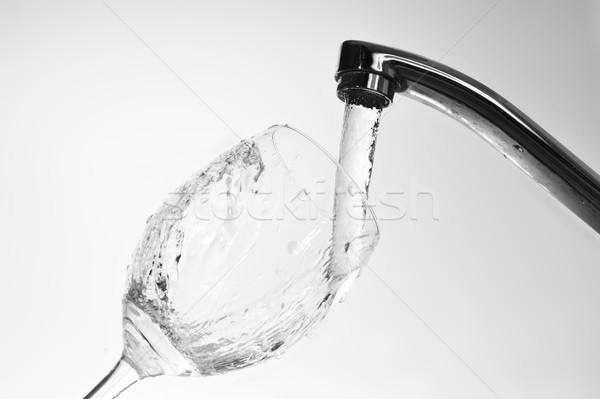 Víz vízcsap tömés üveg édesvíz konyha Stock fotó © taden