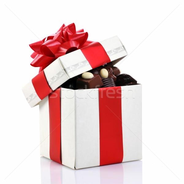 Farklı çikolata kutu hediye kutusu bo sevmek Stok fotoğraf © taden