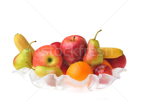 Sabroso frutas completo vidrio jarrón maduro Foto stock © taden