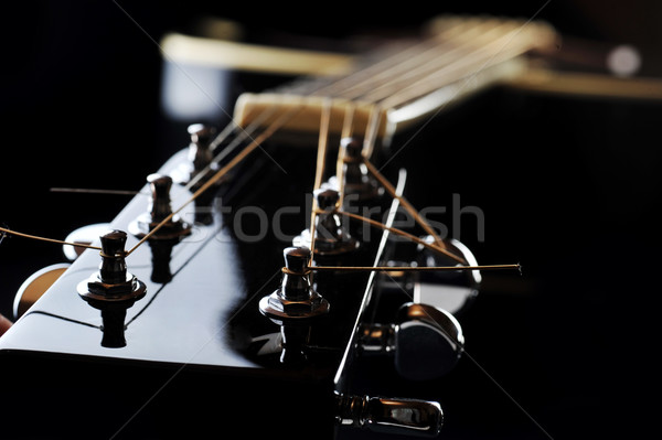 neck of black guitar Stock photo © taden