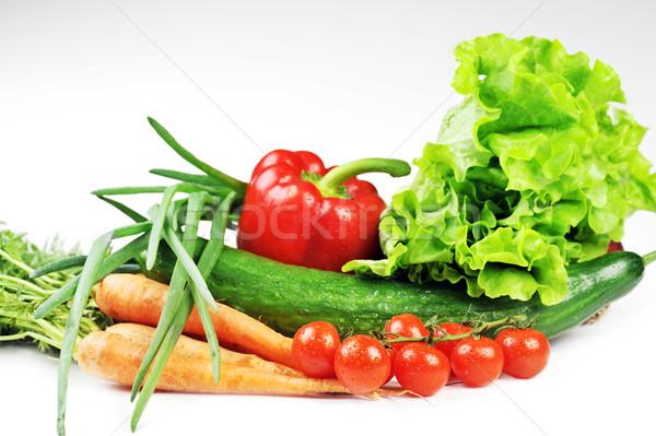 Verduras frescas tomates zanahorias pepino cebollas frutas Foto stock © taden