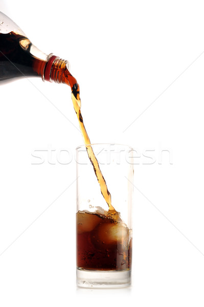 Kóla önt üveg fehér étterem bár Stock fotó © taden