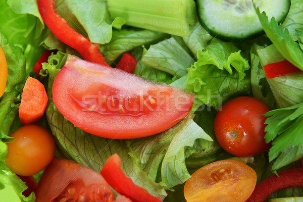 Stok fotoğraf: Salata · sebze · marul · taze · sebze · sağlık