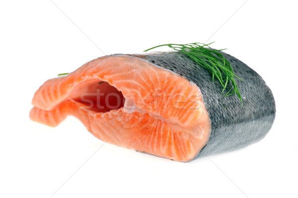 piece of  salmon with dill Stock photo © taden
