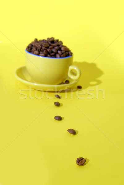 cooffee beans and cup Stock photo © taden