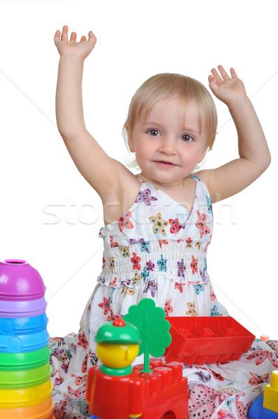 女の子 美しい おもちゃ 少女 春 顔 ストックフォト © taden