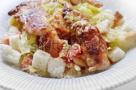 Ensalada cuscurro carne verduras frescas frito placa Foto stock © taden