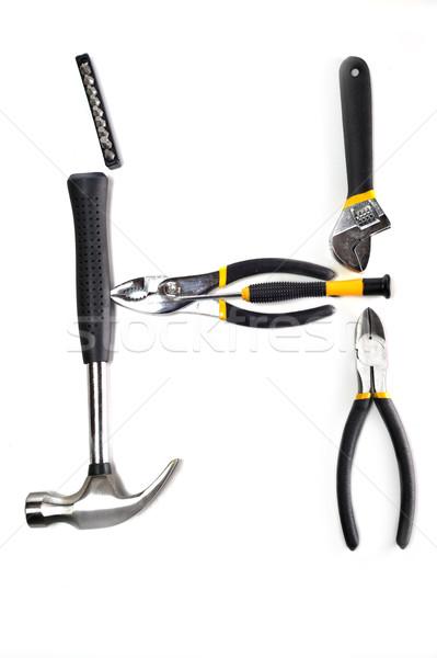различный инструменты многие белый работу дизайна Сток-фото © taden