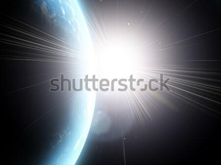 Pianeta terra blu spazio mondo mappa natura Foto d'archivio © taden