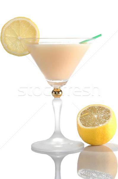 Cocktail limone isolato bianco frutta estate Foto d'archivio © taden
