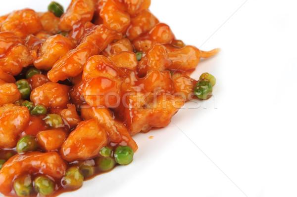 Poulet rouge sauce profonde chinois Photo stock © taden