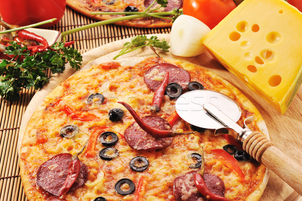 pizza with cheese Stock photo © taden
