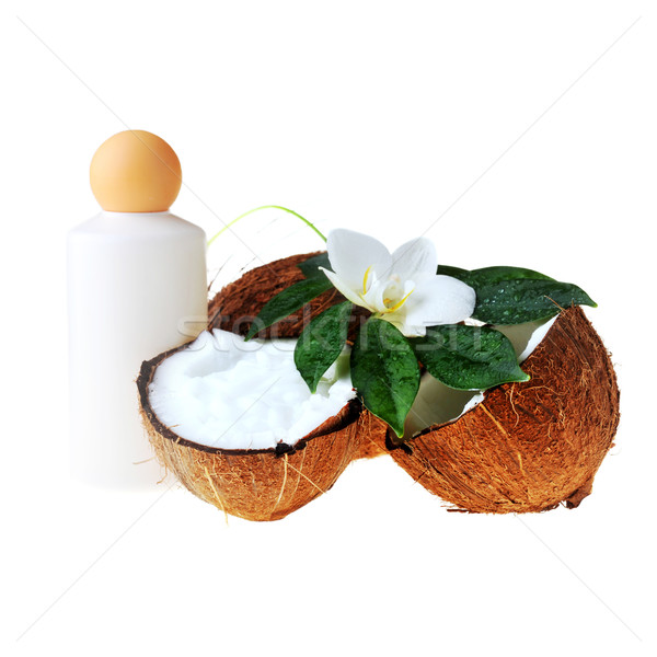 Coconut and massage oil Stock photo © taden