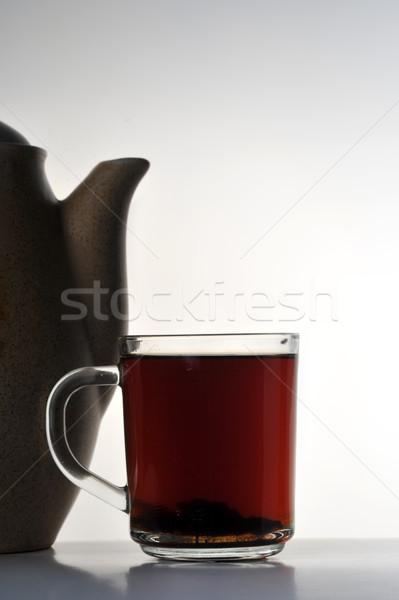 cup of tea and teapot Stock photo © taden