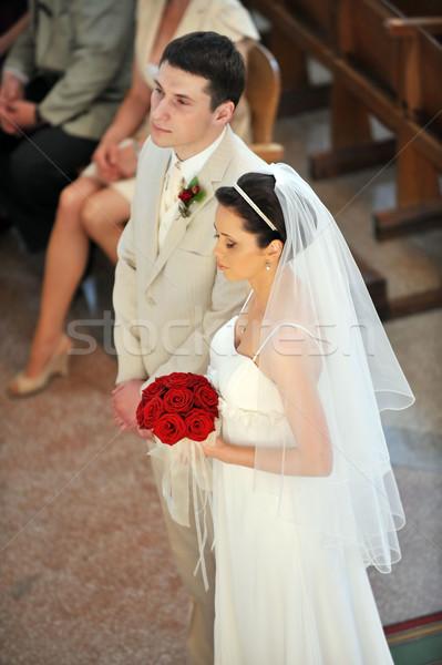 新郎 花嫁 結婚式 教会 愛 カップル ストックフォト © taden