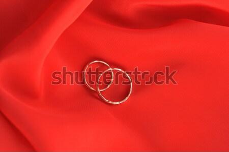 Anéis de casamento vermelho computador projeto fundo quadro Foto stock © taden
