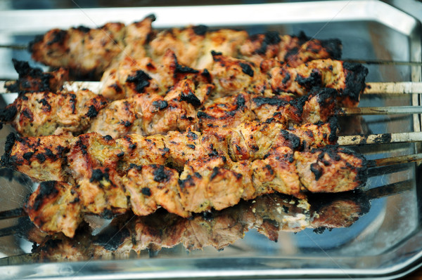 portions of shish kebab Stock photo © taden