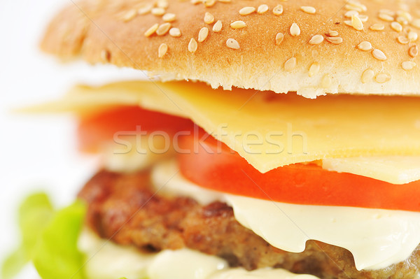 Stock photo: hamburger with cutlet