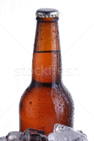 Marrón botella cerveza vidrio caída fresco Foto stock © taden