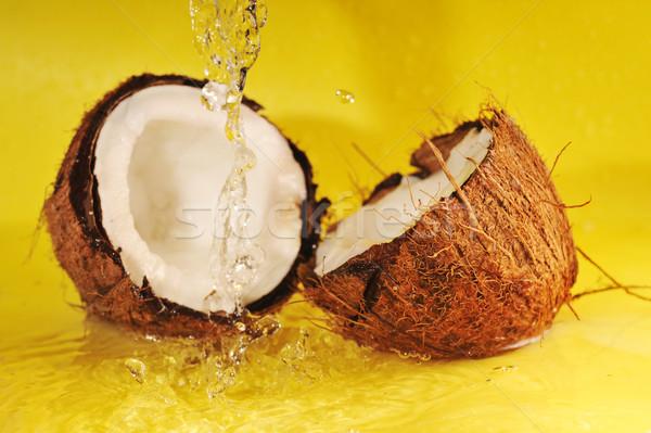 Leite de coco salpico coco amarelo Foto stock © taden