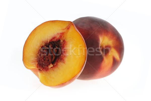 ízletes barack érett gyümölcsök fél gyümölcs Stock fotó © taden