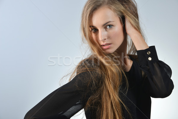 Attrattivo lungo capelli Foto d'archivio © taden