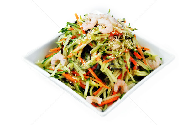 vegetable salad with shrimp  Stock photo © taden