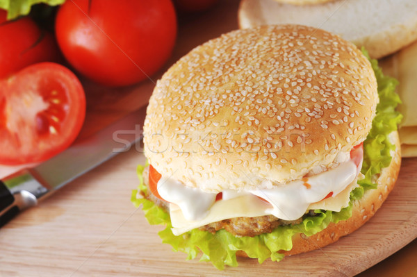 sandwich with  cutlet Stock photo © taden