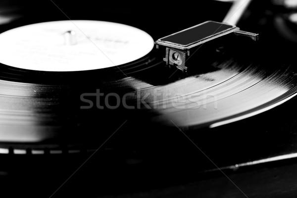 Vinil disk kayıt döner tabla dizayn Stok fotoğraf © taden
