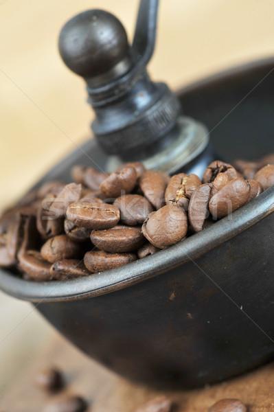 マニュアル コーヒー グラインダー ヴィンテージ コーヒー豆 孤立した ストックフォト © taden