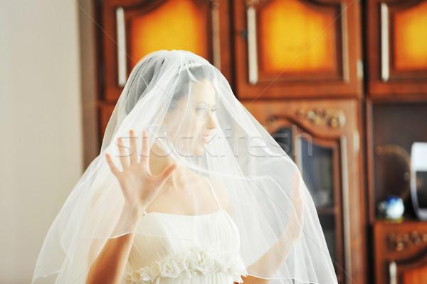 портрет красивой невеста студию свадьба Сток-фото © taden