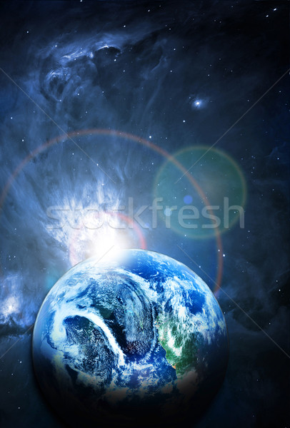 beautiful  sunriece at the red planet in space Stock photo © taden