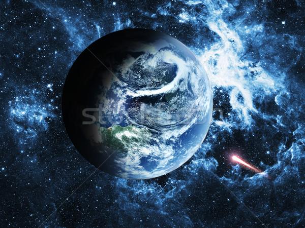 Planeta tierra azul espacio mundo mapa naturaleza Foto stock © taden