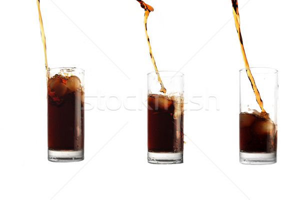 cola pour into glass Stock photo © taden