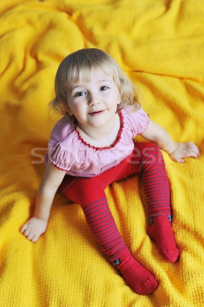 девушки кровать девочку лице ребенка Сток-фото © taden
