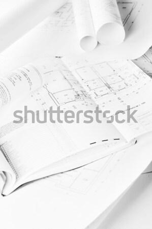 Diseno proyecto dibujos mesa negocios Foto stock © taden