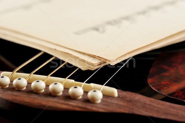 ноты гитаре концерта белый играть Сток-фото © taden