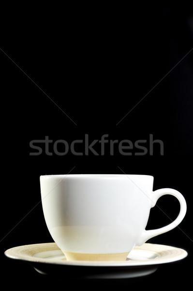 Tele csésze tea fekete közelkép otthon Stock fotó © taden