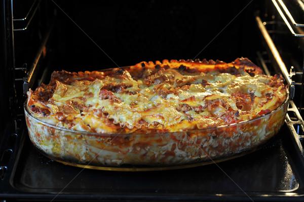 Lasagna pronto ristorante formaggio cena Foto d'archivio © taden