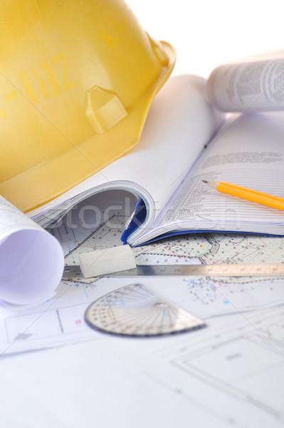 Giallo disegni casco progetto business Foto d'archivio © taden