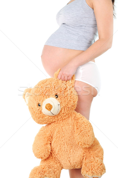 pregnant woman with child's toy Stock photo © taden