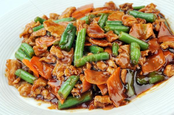 Pollo hortalizas chino cocina profundo Foto stock © taden