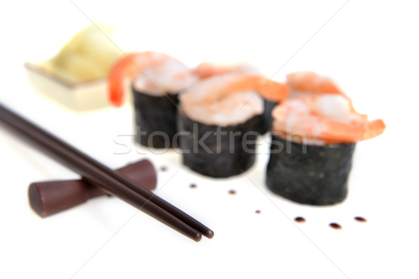 fresh sushi rolls Stock photo © taden