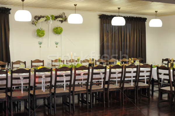 spread table with many chairs Stock photo © taden