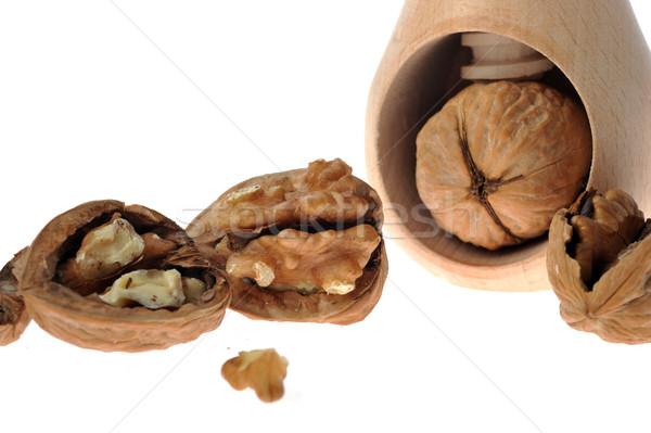 walnut inserted into nutcracker Stock photo © taden