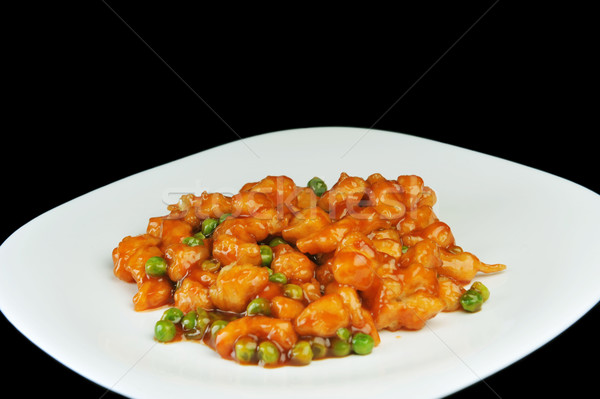 Pollo rojo salsa profundo chino Foto stock © taden