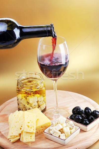 сыра оливками стекла группа Сток-фото © taden