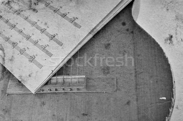 старые ноты музыку Vintage шаблон Сток-фото © taden