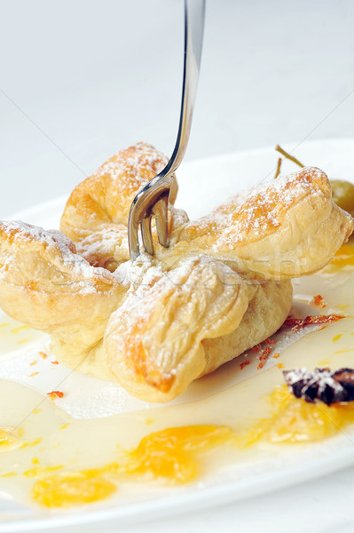 Stock photo: cake  with  syrup